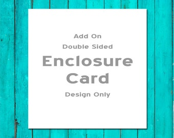 Add On Double Sided Enclosure Card Design Only Wedding Enclosure Card Wedding Information Card Wedding Hotel Card Wedding Directions Card