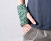 Hand knitted gloves, Fingerless gloves, Wristlets
