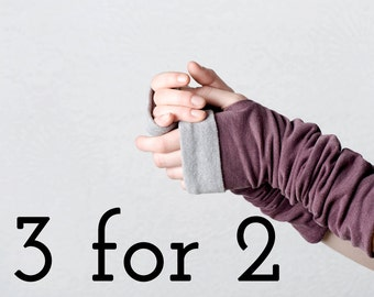 SALE 3 for 2,  Fingerless gloves, arm warmers, gifts under 30, winter accessories