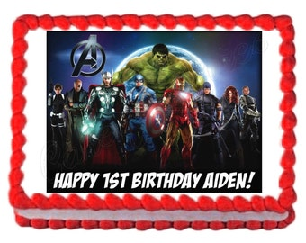 Avengers party decoration edible cake image cake topper  frosting sheet