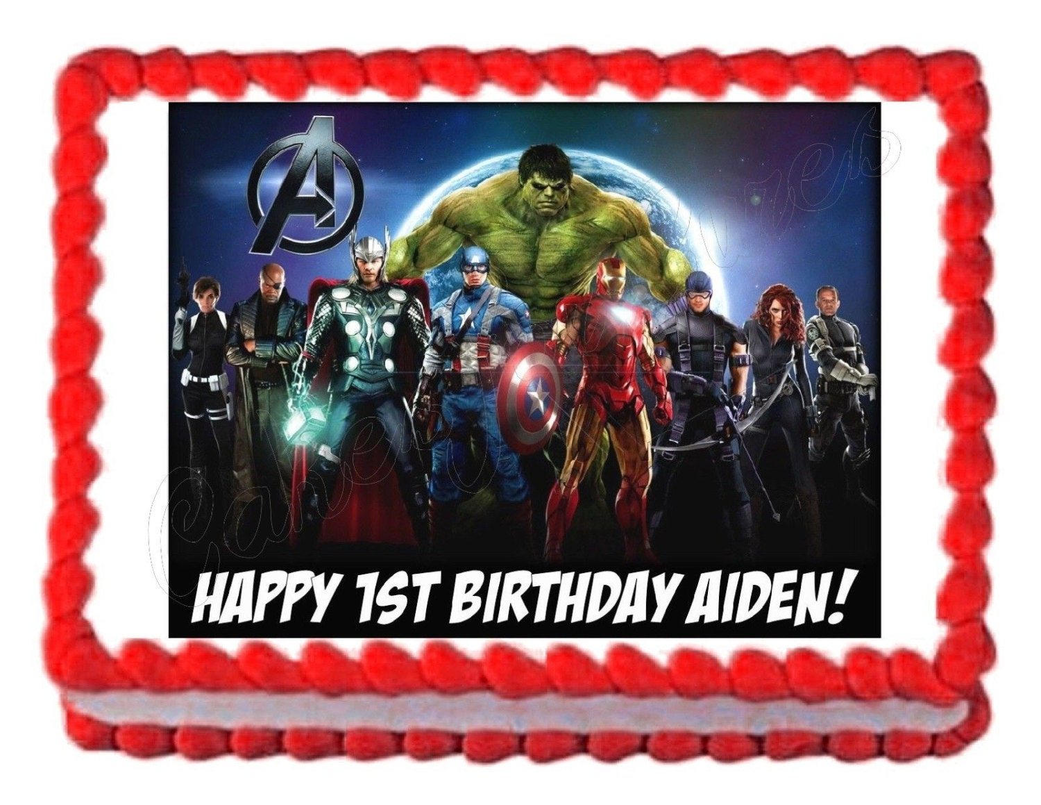 Avengers Party Decorations Avengers Cake Topper Etsy