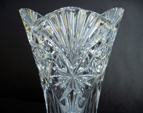 j g durand coupe cristal cristal fleur vase france 24 plomb. Black Bedroom Furniture Sets. Home Design Ideas