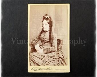 Carte de Visite CDV Photograph of a Seated Woman - Bell