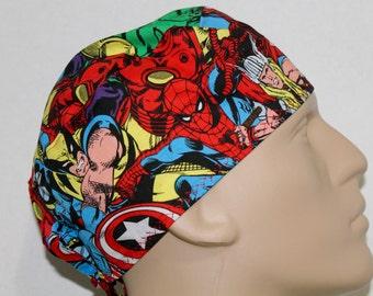 Scrub hat/ Super Heroes