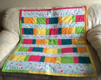 Bright Rainbow Quilt