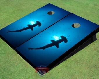 Custom Corn Hole Hammer Head Shark #1 Graphic Cornhole Boards