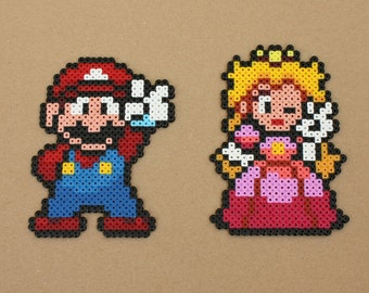 Mario Peach duo Perler Hama Beads