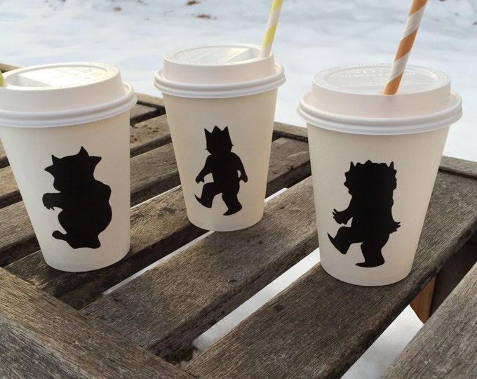 Featured listing image: WhEre The WILD things are Chalkboard Labels for hot cocoa bar or mason jars baby shower birthday party decorations decor favor
