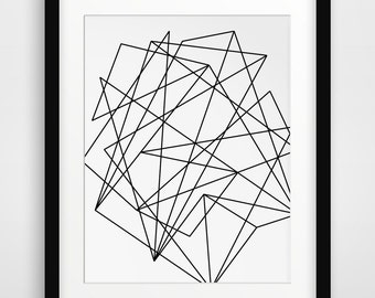 Abstract Geometric Print, Geometric Art, Black and White Prints, Abstract Art, Black White Wall Art, Abstract Prints, Printable Art