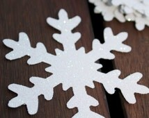 White Glitter Snowflake die cuts Frozen Birthday Party Decoration confetti