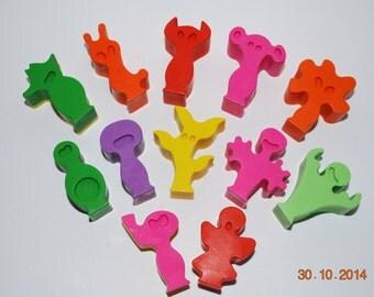 Little Alien Friends Crayon Set    (3 Pieces)