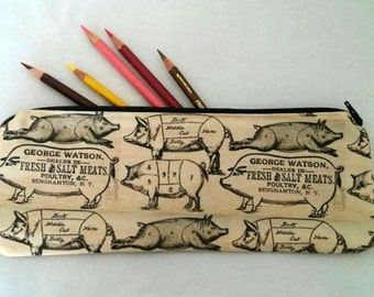 Pork Butcher Paper Zipper Pouch
