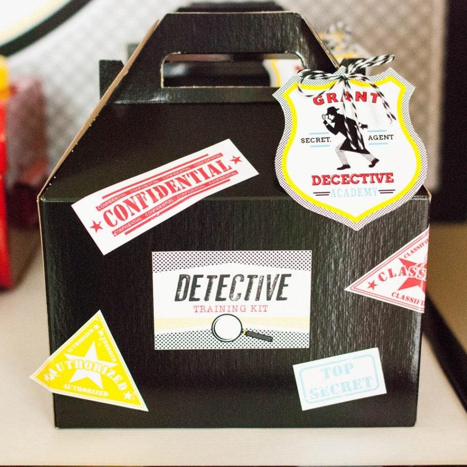 Detective Party Confidential Top Secret Printable Training Kit