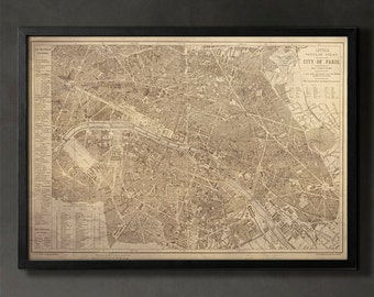 PARIS Map Print, Paris Home Decor and Wall Art for Your Home or Office