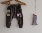 Baby girl brown fabric harem pants  fabric modern harem pants baby girl plaid pants