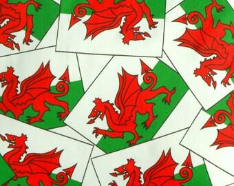 gallois drapeau fabric tissu dragon gallois drapeau national gallois dragon rouge le jour de st david toutes choses welsh fournitures de tissu