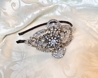 Handcrafted vintage inspired side headpiece
