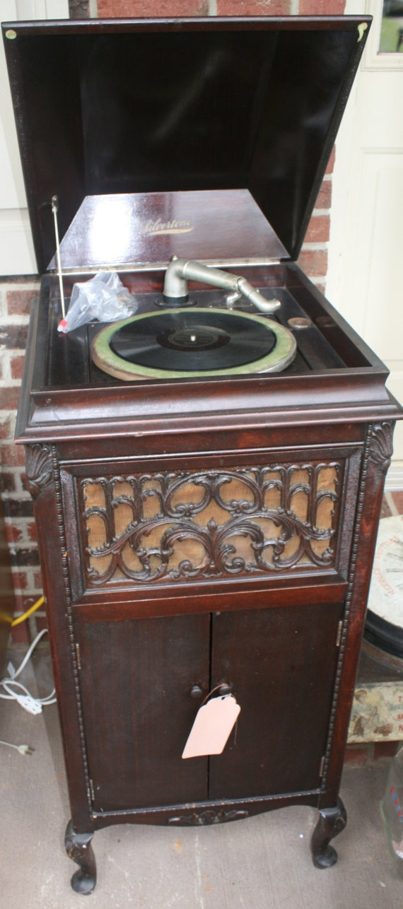 Vintage Silvertone Phonograph Record Player Reserved for