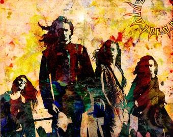Alice In Chains Art, Hard Rock Original Painting Art Print