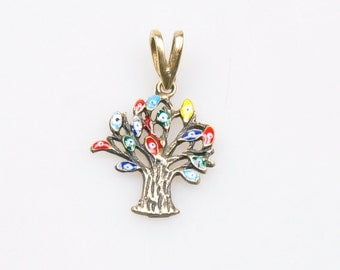 1 Piece Tree of Life Pendant with Evileyes, Life Tree Pendant, Jewelry Findings