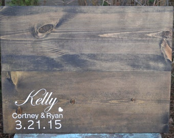 Rustic Guest Book Wooden Slab, Guest book, rustic wedding, fall wedding, winter wedding, wood guest book, personalized guest book