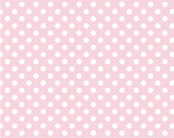 Small White Dot Baby Pink-One Yard- Riley Blake