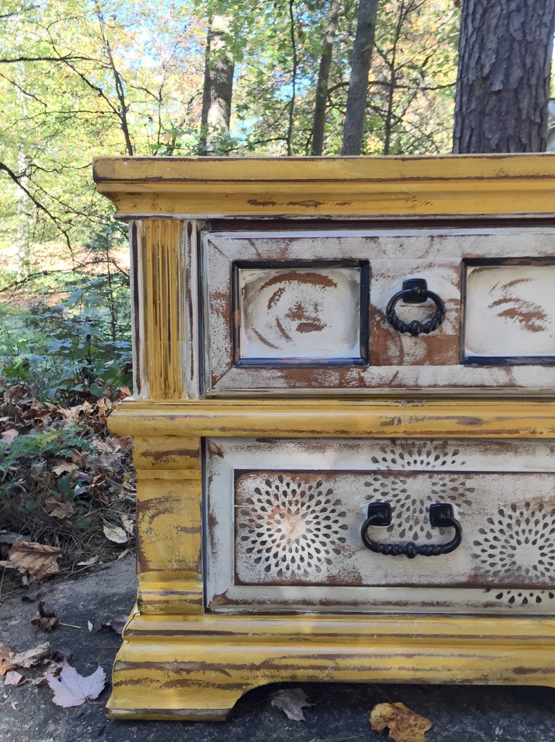 On Sale Painted Bedside Table Distressed By Blacksheepmill On Etsy