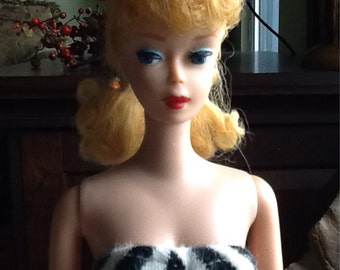 Vintage Original Pony Tail #5 Barbie Doll By Mattel From 1961