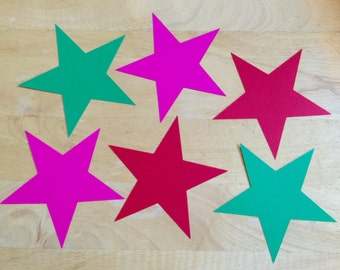 Star Cut Outs (Various Sizes and Colors Available)- Fast Shipping