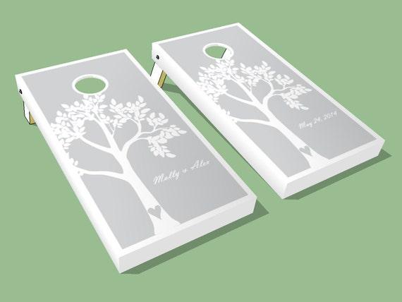 Wedding Tree Custom Cornhole Boards 2 Customized Wedding Cornhole