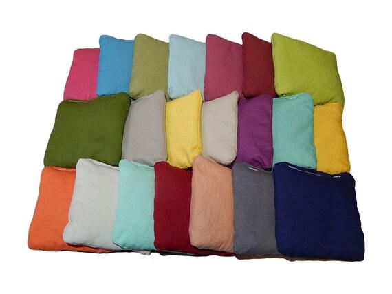Wedding Cornhole Bags Solid wedding colors - Corn Filled - Build your own set - Set of 8 cornhole bags - Baggo bags - Corn hole Bags