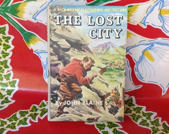 Vintage Rick Brant Adventure Story- The Lost City by John Blaine, Grosset and Dunlap, 1947