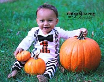 Boys First Birthday Outfit - Fall First Birthday - Halloween Birthday - First Birthday Boy Shirt - Black Orange Birthday - Pumpkin Patch