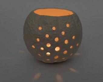 Porcelain Tea Light Candle Holder, wedding candle holder, table decoration, wedding décor, modern ceramic votive holder, Wedding gift,