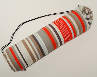 Striped yoga mat bag