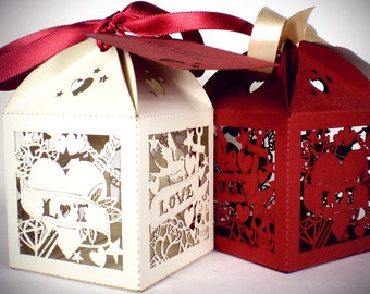 x20 Rockabilly Personalised Favour Boxes