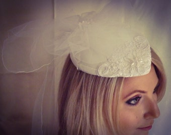 Tear Shaped Wedding Hat