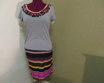 Women's/Ladies Throwback T-Shirt Dress, Great casual wear, Outtings etc. Handmade by Mvious Da'Zigns
