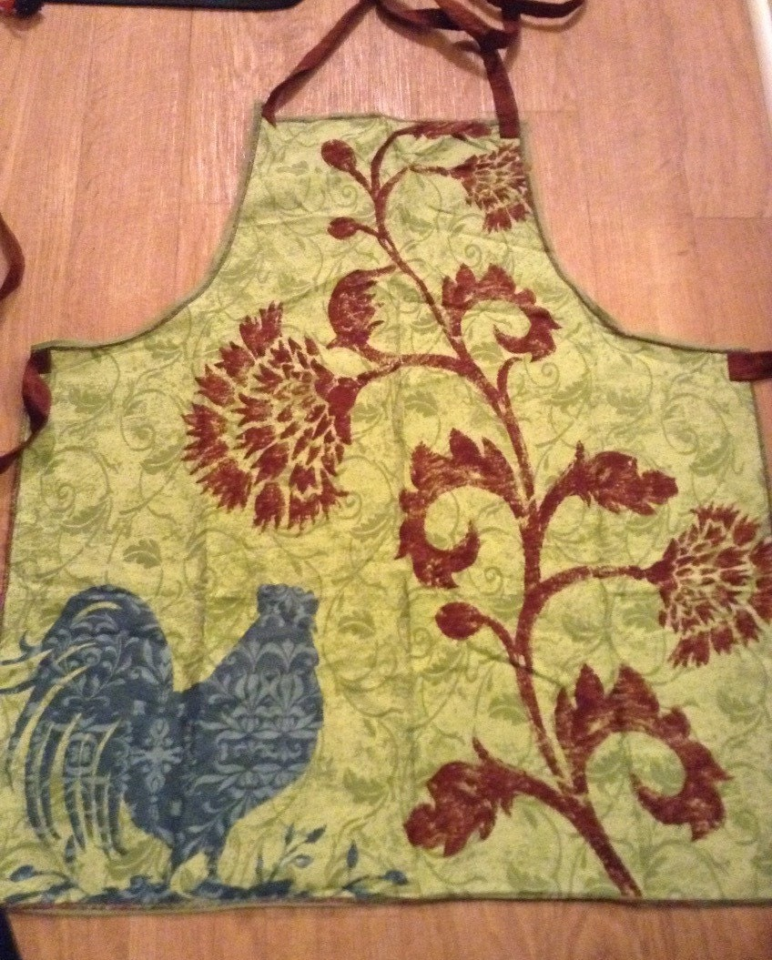 Adult Decorative Fabric Kitchen Apron Country Kitchen Green