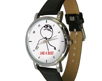 Like a Boss Watch - Wear yours Like a Boss - For Men - For Women - Meme - Cool watch