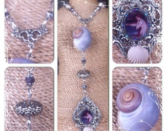 Sea witch necklace, altered art