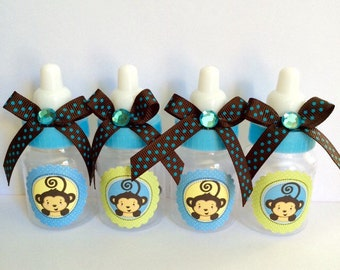 monkey baby shower favors brown and blue monkey baby shower monkey