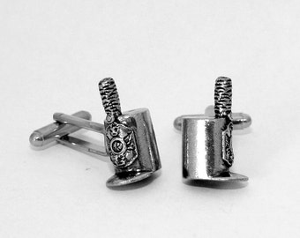 Battle of Waterloo Helmet Cufflinks by Hoardersworld, Handmade (wa)
