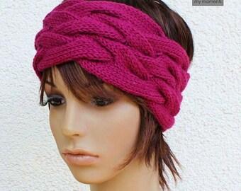 Headband Merino raspberry