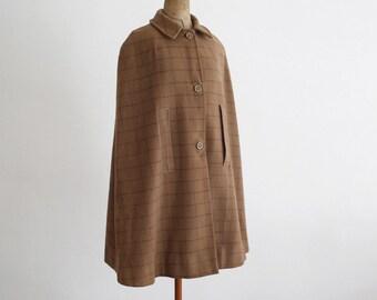 Khaki/Light Brown Vintage Mid Length Cape
