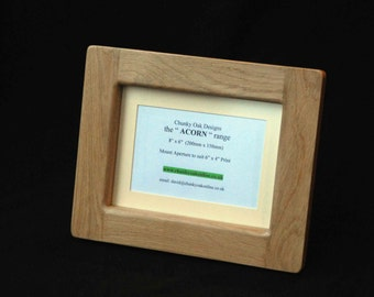 "8"" x 6""  Oak Photo  /  Picture Frame   -  Hand Crafted  -  Available in various sizes & finishes"