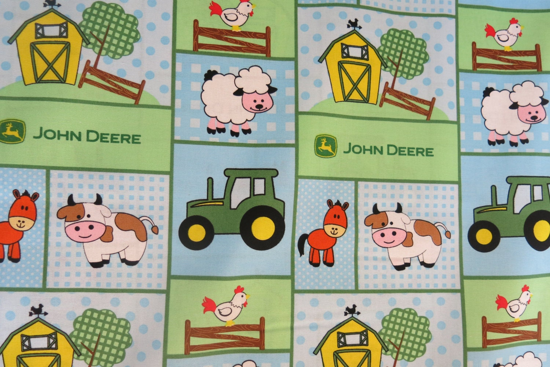 1 2 yard of 100 cotton john deere baby nursery fabric for Baby nursery fabric yard