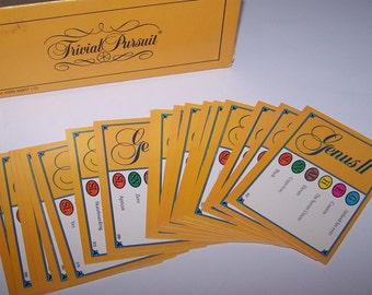 Genus II ~ Trivial Pursuit Cards ~ 50 Pieces ~ Crafts ~ Tags ~ Scrapbooking ~ Replacement ~ Table Decor