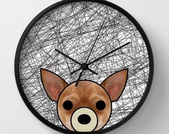 Chihuahua dog wall decor dog wall clock black and white dalmatian dog afgan hound chihuahua pug shintzu husky boxer poodle german