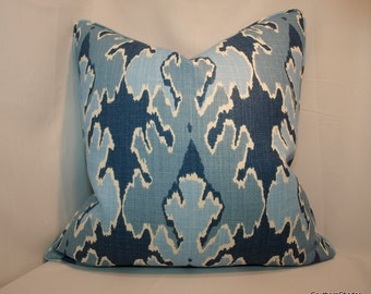 One or Both sides - ONE High End Kelly Wearstler Bengal Bazaar Teal Pillow Cover with Self Cording